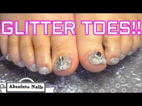Acrylic nails - GLITTER ACRYLIC TOE NAILS ~ SUMMER NAILS  ABSOLUTE NAILS