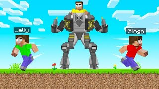 TROLLED My Friends With GIANT MECHS! (Minecraft)