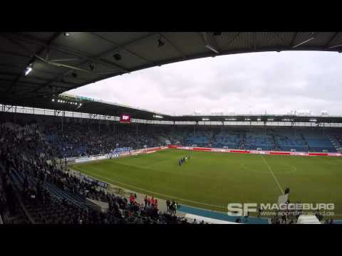 Video: Support nach dem Abpfiff: 1. FC Magdeburg - Holstein Kiel