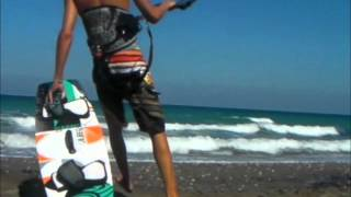 A typical cool kitesurfer and a 100% shit-kiteboarder freak...Who´s the PRO and who is the BEGINNER???You will see that it´s not the way you look like at kitesurfing that makes of you a good kitesurfer... HAVE FUN !!!