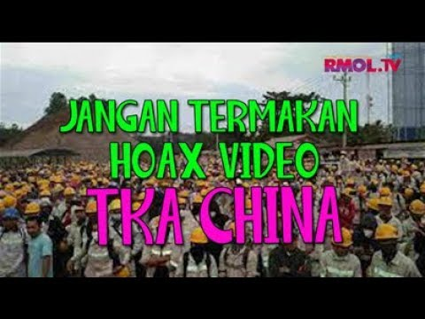 Jangan Termakan Hoax Video TKA China