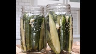 ❤️ SUBSCRIBE: http://bit.ly/divascancookfan   Making refrigerator dill pickles is so fun and easy. This recipe produces a mild dill pickle that my little boys love! Feel free to increase the vinegar and salt if you're going for super strong pickle like in the stores. These dill pickles taste so fresh and full of flavor! It really is hard to not eat them back to back. The flavors get stronger as it sits in the fridge but they are ready to eat within 24-48 hours. (I usually wait for 48)I've put some add-in suggestions on my blog in case you want to play around with other ingredients. If you like spicy pickles red pepper flakes and jalapeno is great in these!Enjoy! GET THE PRINTABLE RECIPE  HERE: 👉http://divascancook.com/homemade-kosher-dill-pickles-recipe-refrigerator/___________________________________________________________________🍕🍔🍰FAN FAVORITED RECIPES:🍦🍩🍟How To Make Cake Pops: https://youtu.be/9BcBK2_nKmAHow To Make Baked Mac n Cheese: https://youtu.be/e8S1vFC8zYkHow To Make Crispy Fried Chicken: https://youtu.be/JXCmp1jMi0w--------------------------------------------------------------------------------------------🤗FOLLOW ME ON SOCIAL MEDIA! 👠😘OFFICIAL WEBSITE: http://divascancook.comFACEBOOK: http://www.facebook.com/divascancookfanpagePINTEREST: http://pinterest.com/divascancook/INSTAGRAM: https://instagram.com/divascancook/TWITTER: https://twitter.com/divascancookGGOGLE+: https://plus.google.com/+divascancook/posts____________________________________________________________________