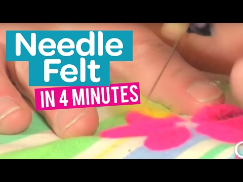 How to needle felt in 4 minutes - Part 1