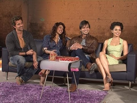 hrithik - As team Krrish 3 gears for a big Diwali release, ENOW correspondent Atiya Khan gets chatting with Hrithik Roshan, Priyanka Chopra, Vivek Oberoi, Kangana Rana...