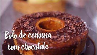 Experimente - Bolo de cenoura com chocolate