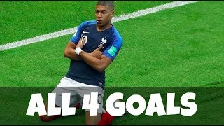 Kylian Mbappe ● All 4 Goals scored for France - World Cup 2018