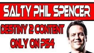 Phil Spencer's Reaction To Destiny 2 Exclusive Content Only On PS4LIKE THIS VIDEO & SUBSCRIBEThank you for watching