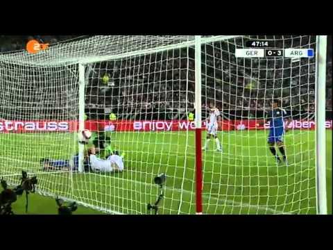 germania - argentina 2-4: tutti i gol