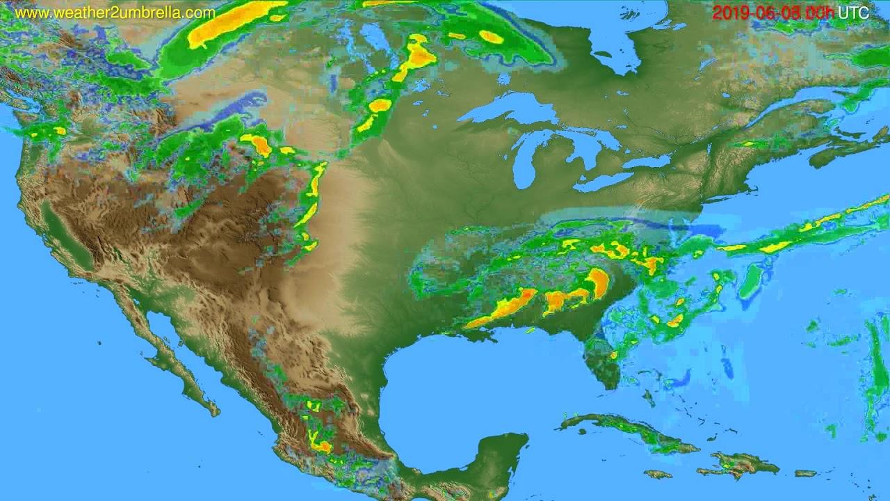 Radar forecast USA & Canada // modelrun: 12h UTC 2019-06-07