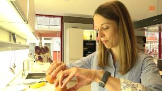 Paleo - Eierkuchen ohne Mehl mit Schoko-Himbeer-Soße