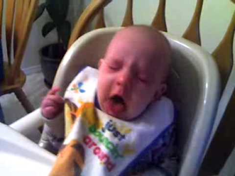Best baby's gagging reaction to food!!