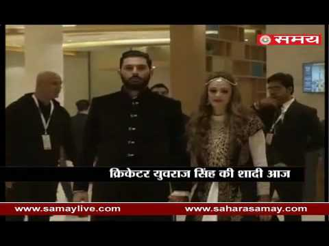 Cricketer Yuvraj Singh wedding with Hazel Keech in Chandigarh