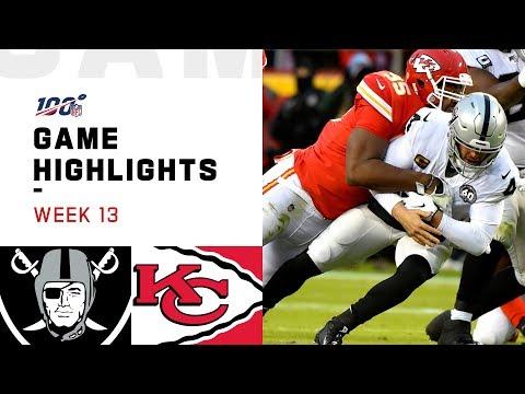 Raiders vs. Chiefs Week 13 Highlights | NFL 2019