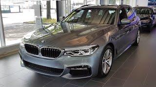 """Hello and welcome to BMW.view. In this video we review the interior and exterior of the 2017 BMW 520d Touring (G31) M Sportpaket. Produced in 4K. Facebook: https://www.facebook.com/pages/BMWview/860051290681663?ref=hlsubscribe -[BMW.view]- here: https://www.youtube.com/channel/UCuZoR8ZNgfPKBaPMPryyD1gMotor/engine: 140 KW/1995 ccmLackierung: Bluestone metallicPolster: Stoff ´Rhombicle´/Alcantara Anthrazit (SW)Felgen: 18"""" M LMR Doppelspeiche 662 M Licht: LED-Scheinwerfer, LED-Nebelscheinwerfer, Ambientes LichtGrundpreis: 47.700 ,00 EURPakete: 11.900,00 EURSonderausstattung: 8.740,00 EURTronsportkosten: 750,00 EURGesamtpreis = 69.090,00 EURPakete: M Sportpaket, Innovationspaket, Navigationspaket ConnectedDrive, BusinessPackage, Sonderausstattungmusic:"""