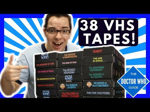 Huge Doctor Who VHS Unboxing   What 20 lbs  of VHS tapes look like.