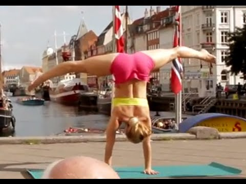 Kino Yoga Demo at Nyhavn, Copenhagen, Denmark video