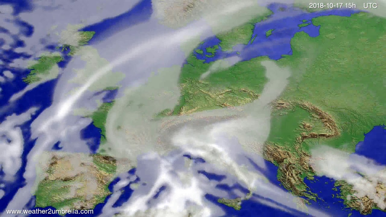 Cloud forecast Europe 2018-10-15