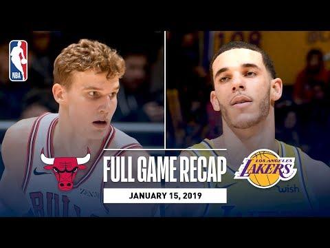 Video: Full Game Recap: Bulls vs Lakers | Lonzo Leads Los Angeles