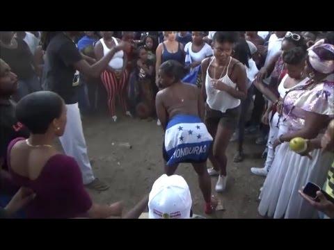 HONDURAN DAY PARADE BRONX 2016 NEW YORK NYC - OPEN HONDURAN GARIFUNA PUNTA DANCE