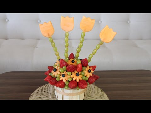 DIY- EDIBLE FRUIT ARRANGEMENT (видео)