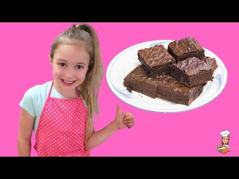 EASY BROWNIES FOR KIDS TO BAKE    Step By Step Kids Baking Brownie Tutorial