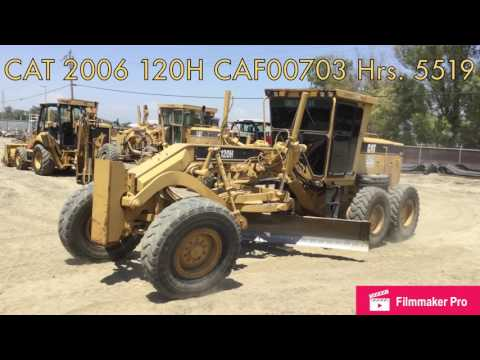CATERPILLAR MOTOR GRADERS 120H equipment video PTmFPortMG0