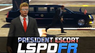 Today we Play GTA 5 LSPDFR Online Mod. However we did do a GTA 5 LSPDFR Online Patrol with trump in presidential motorcade, in the President Escort Mod. Esco...