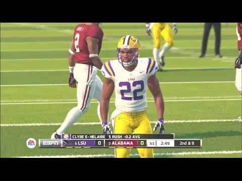 (LSU Tigers vs Alabama Crimson Tide) PS3 (NCAA Football 20 2019 2020 Season) 11/09/19