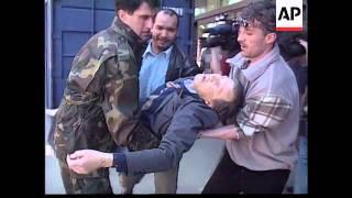 Bosnia   Sniper Attack In Sarajevo