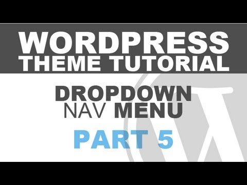 Responsive WordPress Theme Tutorial – Part 5 – Dropdown Navigation Menu