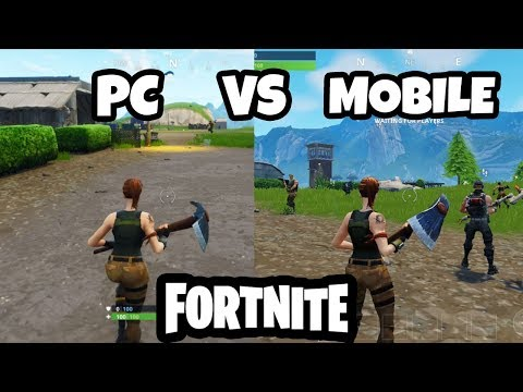 Fortnite PC Vs MOBILE - GAMEPLAY