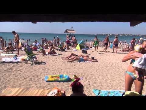 Пустые пляжи Евпатории
