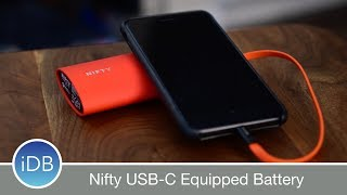 Learn more: http://amzn.to/2uerGZtNifty has brought the latest tech to batteries. Unique features. like tap-to-wake, smart LED around the USB port, 2-way USB-C, and a stylish design.~~Visit us at iDownloadBlog.com for more Apple news and videos!Download the free iDB app for the latest news! https://goo.gl/bY6OvS~~#Social:http://www.twitter.com/iDownloadBloghttp://www.facebook.com/iDownloadBloghttp://www.twitter.com/Andrew_OSU