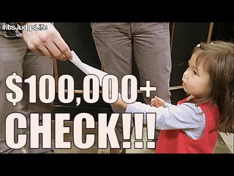 $100,000 Check Donation!- January 09, 2015 ItsJudysLife Vlog