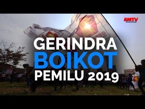 Gerindra Boikot Pemilu 2019