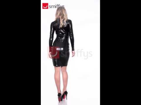 Déguisement robe crayon noir imitation cuir