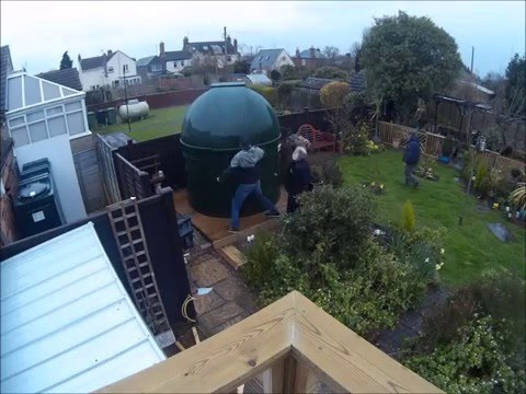 2.2m green dome with accessory bay installation time lapse