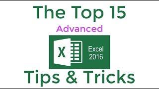 Video Top 15 Advanced Excel 2016 Tips and Tricks MP3, 3GP, MP4, WEBM, AVI, FLV September 2019