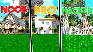 NOOB VS PRO VS HACKER MOST SECURE HOUSE | Minecraft w/ Little Kelly & Tiny Turtle