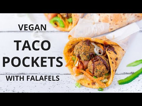 Vegan Taco Pockets with Falafels | Blooming Nolwenn