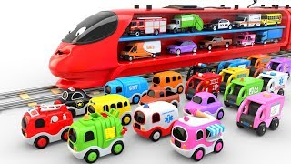 Video Colors for Children to Learn with Train Transporter Toy Street Vehicles - Educational Videos MP3, 3GP, MP4, WEBM, AVI, FLV Mei 2019