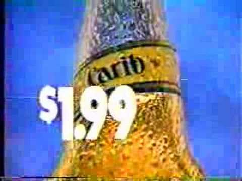 Carib Lager Beer Commercial 1989