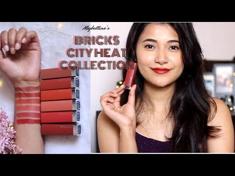 SWATCHED: *New* Maybelline's BRICKS CITY HEAT COLLECTION