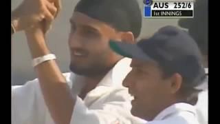 harbhajan Singhs hat trick