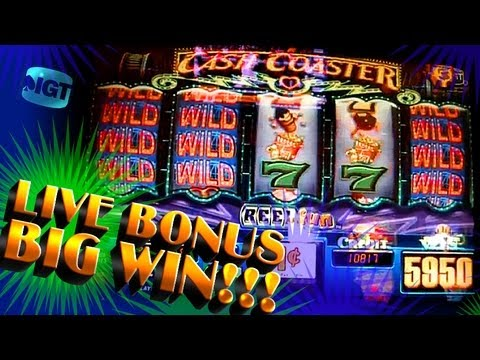 Cash Coaster Live Bonuses Big Win!!! - 1c IGT Video Slots