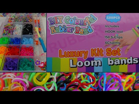 DIY-Test:  Loom Bands Luxury Kit Set/ Coulourful Rubber Band Bastelset/ Unboxing/ Review