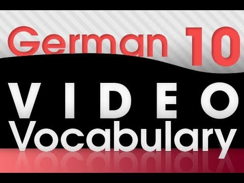 Learn German – Video Vocabulary #10