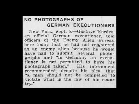 Germany's Axe and Block Executions - Early 20th Century