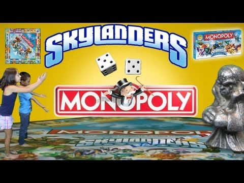 Skylanders Monopoly - Surprise, Setup, Gameplay and HAVING FUN!