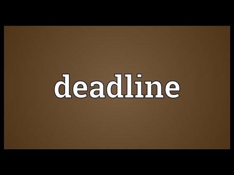 Deadline Meaning